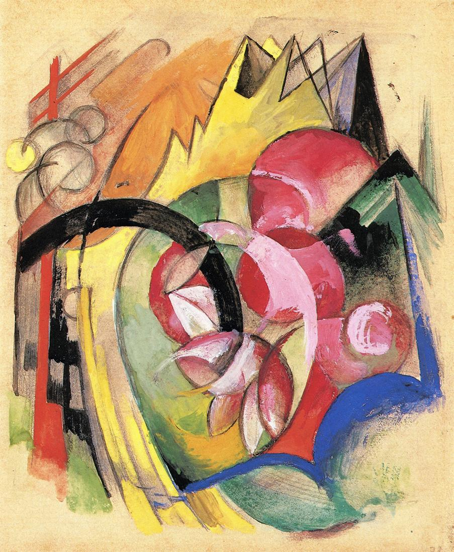 Colorful Flowers (Abstract Forms) (Marc)